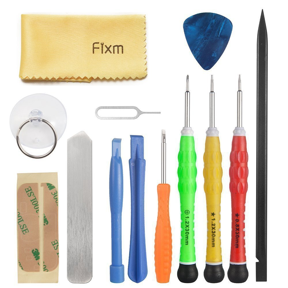 Fixm Cellphones Repair Tool Kit (13 pcs )for Apple iPhone 4/4S/5/5C/5S/6/6 Plus (GSM/CDMA)/6S/iPad 4/3/2 Mini & iPods