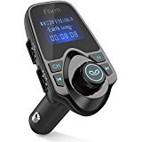 FM Transmitter, Fixm Bluetooth FM Transmitter Radio Receiver Adapter Car Kit With USB Car Charger AUX Input 1.44 Inch Display TF Card Slot and USB Flash Drive