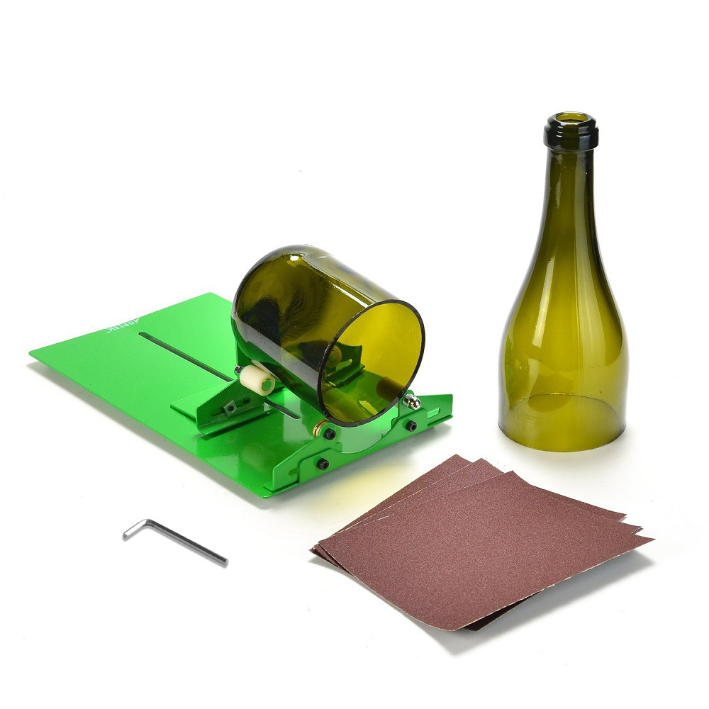 AGPtek Long Glass Bottle Cutter Machine Cutting Tool For Wine Bottles, Suit for LONG Bottle (Green)