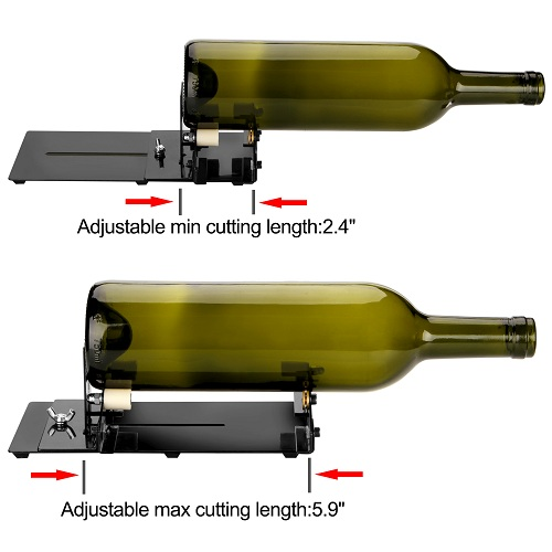 Glass Bottle Cutter, Square Round Bottle Cutting Machine, Wine Bottles and Beer Bottles Cutter Tool with Accessories Tool Kit, Upgrade Version